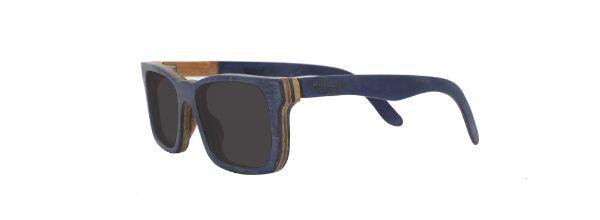 Óculos de Sol de Madeira Leaf Eco Miles Azul Escuro