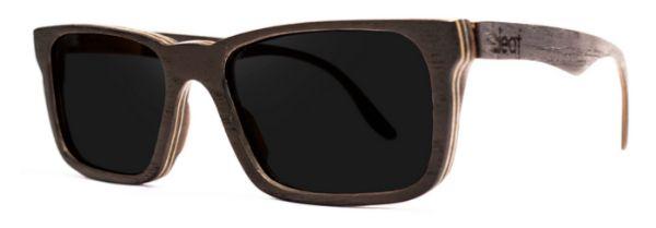Óculos de Sol de Madeira Leaf Eco Miles Preto