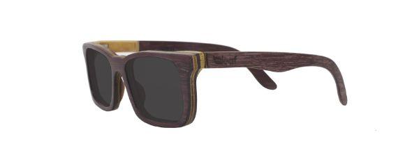 Óculos de Sol de Madeira Leaf Eco Miles Roxinho