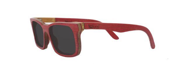 Óculos de Sol de Madeira Leaf Eco Miles Vermelho