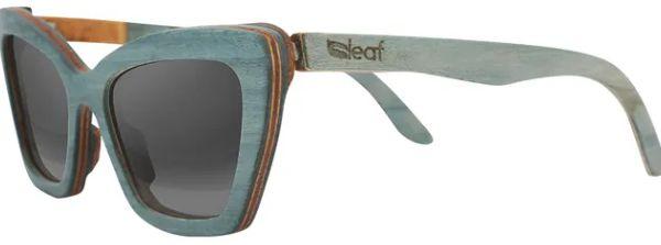 Óculos de Sol de Madeira Leaf Eco Joan Azul Claro