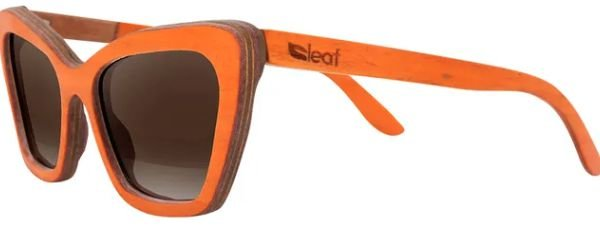 Óculos de Sol de Madeira Leaf Eco Joan Laranja