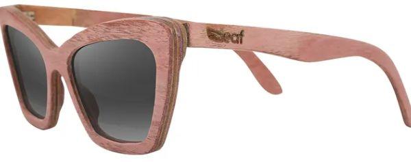 Óculos de Sol de Madeira Leaf Eco Joan Rosa