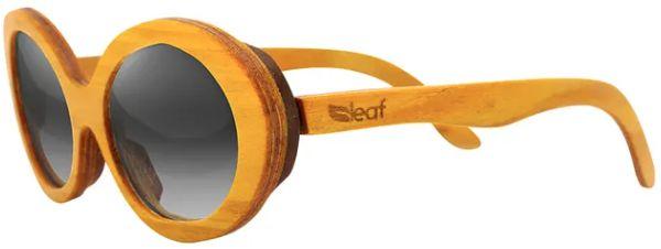 Óculos de Sol de Madeira Leaf Eco Kurt Amarelo