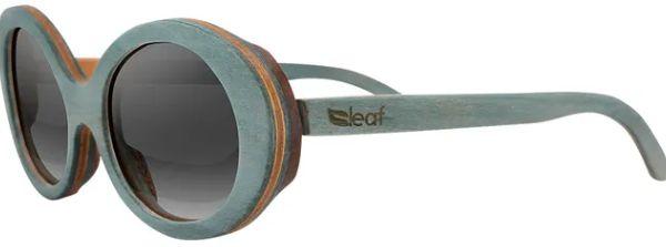 Óculos de Sol de Madeira Leaf Eco Kurt Azul Claro