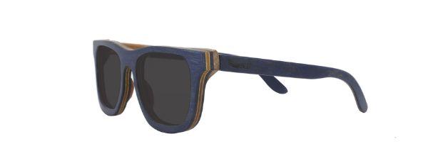 Óculos de Sol de Madeira Leaf Eco Roy Azul Escuro