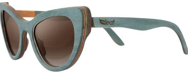 Óculos de Sol de Madeira Leaf Eco Thunder Azul Claro