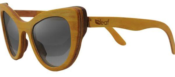 Óculos de Sol de Madeira Leaf Eco Thunder Amarelo