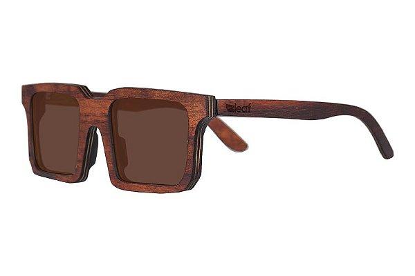 Óculos de Sol de Madeira Leaf Eco Andy Imbuia