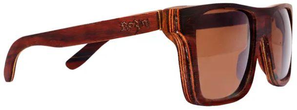 Óculos de Sol de Madeira Leaf Eco Rozini Beagle Jacarandá