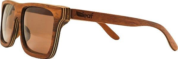 Óculos de Sol de Madeira Leaf Eco Beagle Muiracatiara