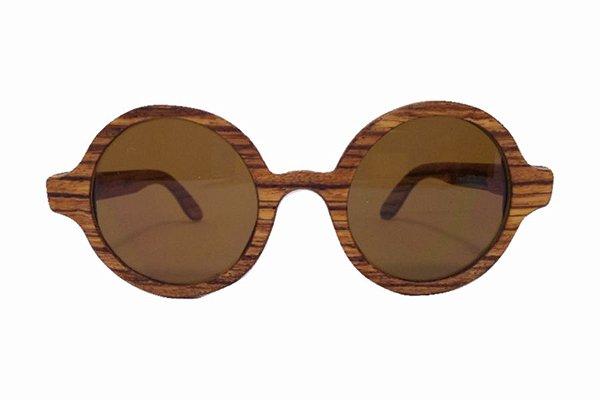 Óculos de Sol de Madeira Leaf Eco Layla Zebrano Maple