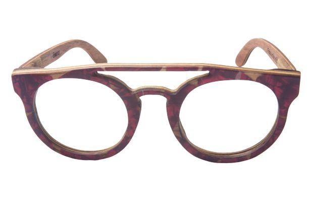 Armação de Óculos de Grau de Madeira Eleanor com Palheta de Guitarra