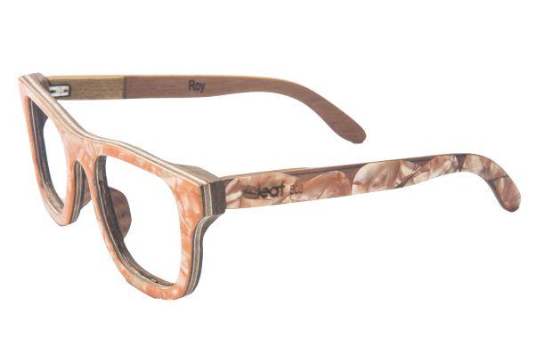 Armação de Óculos de Grau de Madeira Roy com Palheta de Guitarra