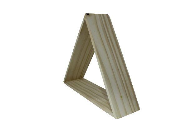 Nicho decorativo triangular de pínus natural