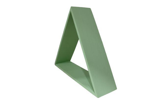 Nicho decorativo triangular verde