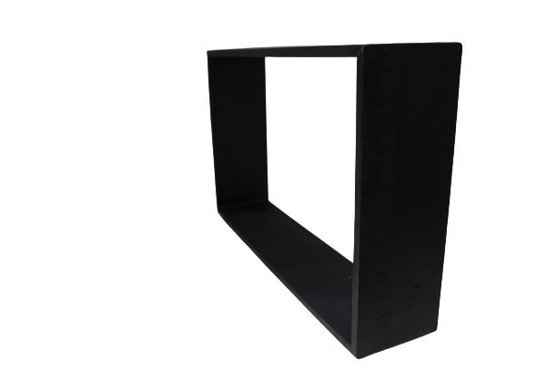 Nicho decorativo retangular preto
