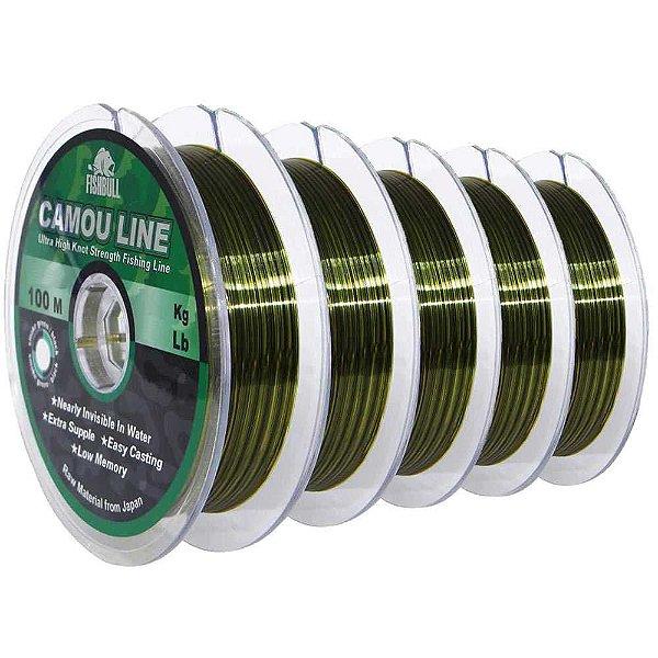500m Linha Monofilamento Camou Line 0,25mm contínuos