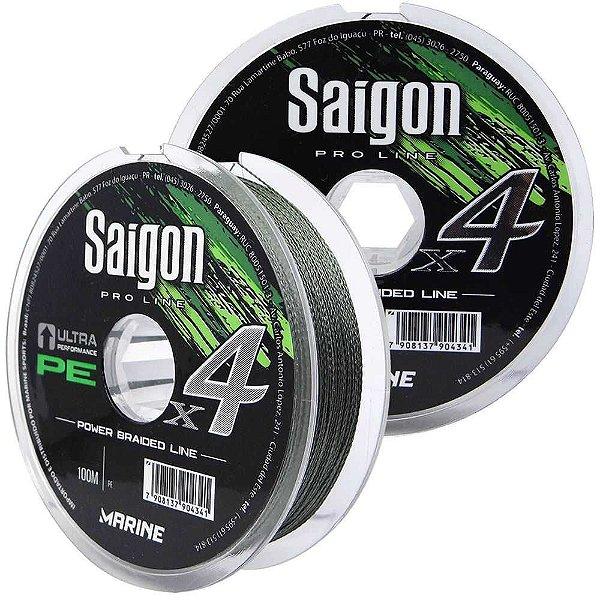 400m Linha Marine Sports Saigon X4 Green 0,15mm 15lb Multifilamento