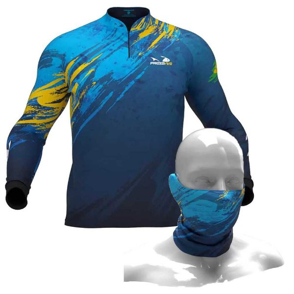 Camiseta de Pesca Presa Viva Pv 12 - EXG + Breeze Buff Presa Viva Pv 12