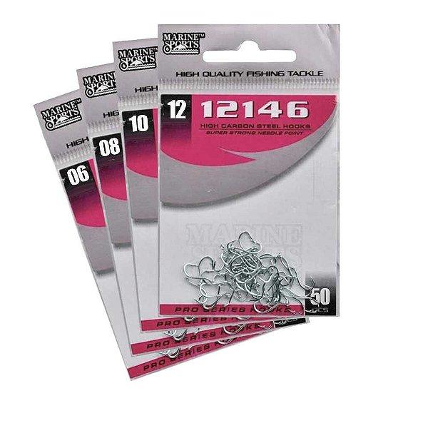 200 Anzol Marine Sports 12146 Black Nickel Nº 6,8,10,12