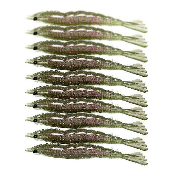 10 Isca artificial Camarão JET Shrimp Nihon 11cm - 20 Ferrao