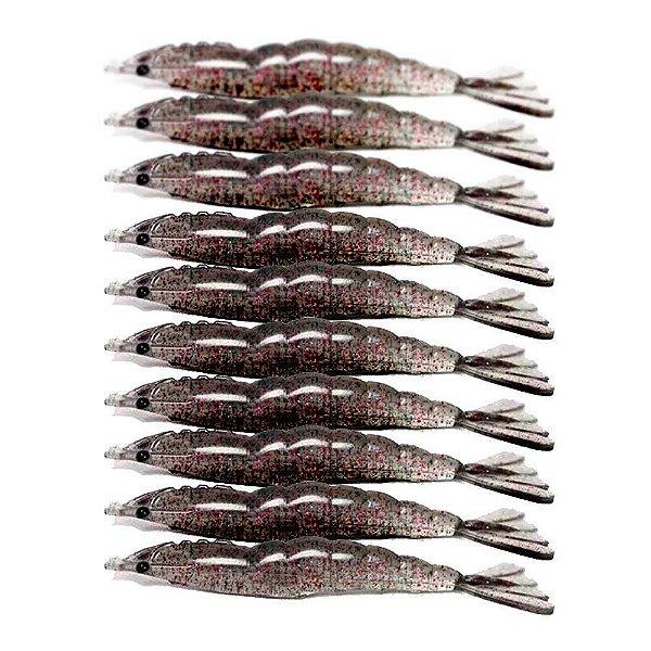10 Isca artificial Camarão JET Shrimp Nihon 8,7cm FERRINHO