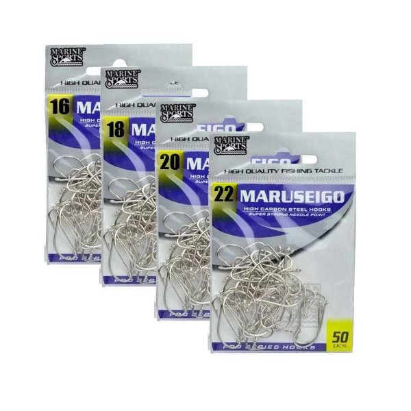 150 Anzol Marine Sports Maruseigo Nickel Nº 16,18,20,22