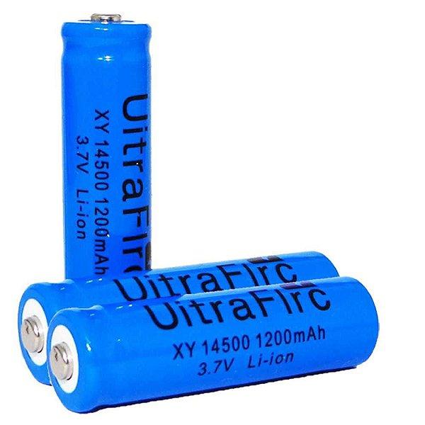 2 Bateria Recarregável Li-ion 14500 3,7 / 4,2 V azul