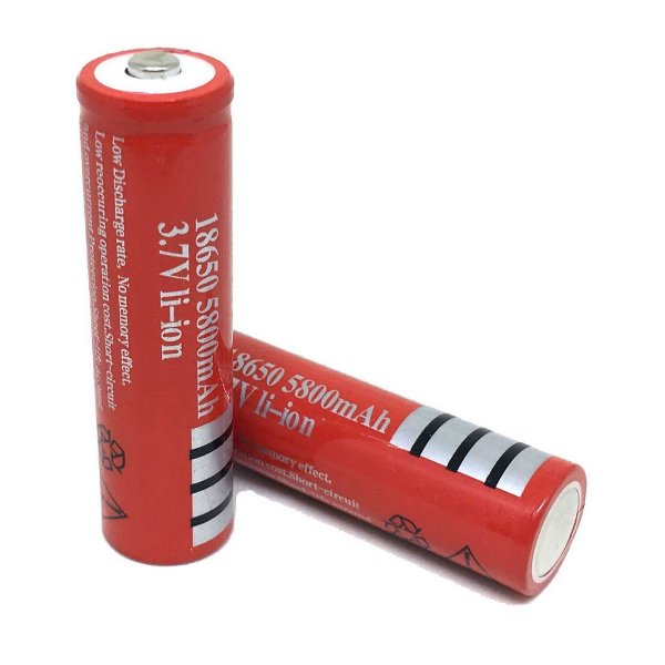 2 Baterias Recarregável Ultra Fire 18650 5800mah 3,7v Li-i