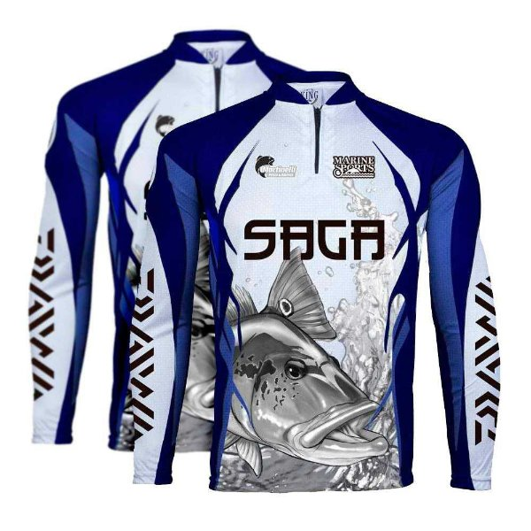 2 Camiseta de Pesca King - Saga - Tam: 02 - M