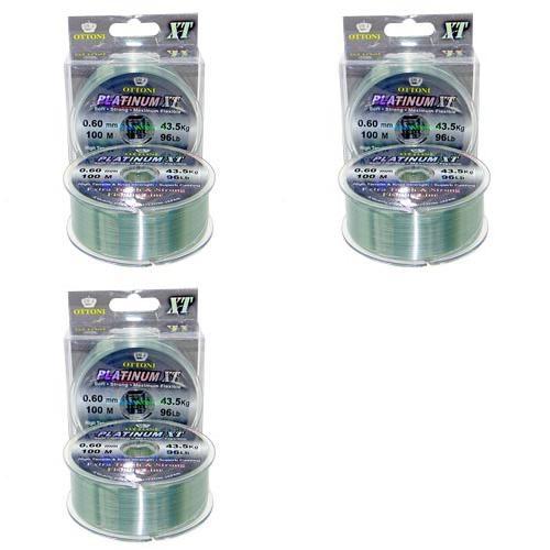 3 Linha Monofilamento Platinum XT BOX 0,60mm 43,48kg 100m