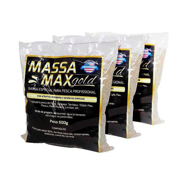 3 Massa Max Gold 500 gramas