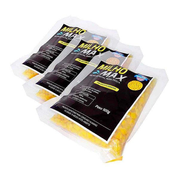 3 Milho Max c/ Atrativos Especiais Peixes água doce 100 gr