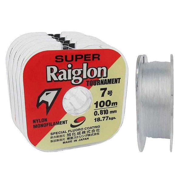 400m Linha Monofilamento Super Raiglon 0,810mm