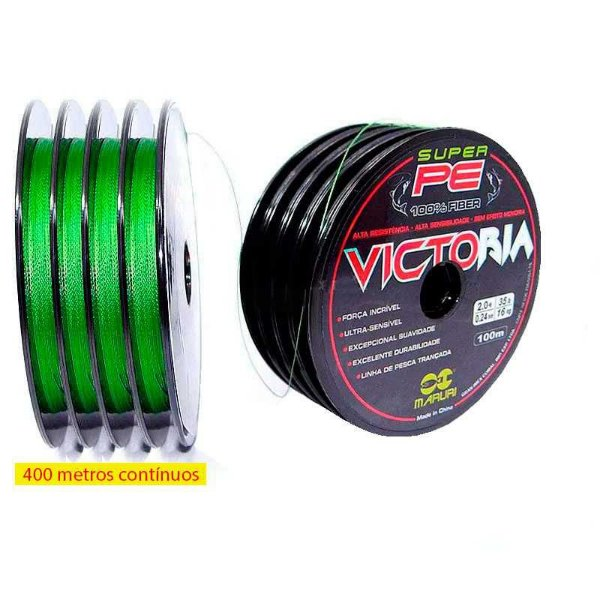 400m Linha multifilamento Victoria 0,34mm 67lb 30,39kg