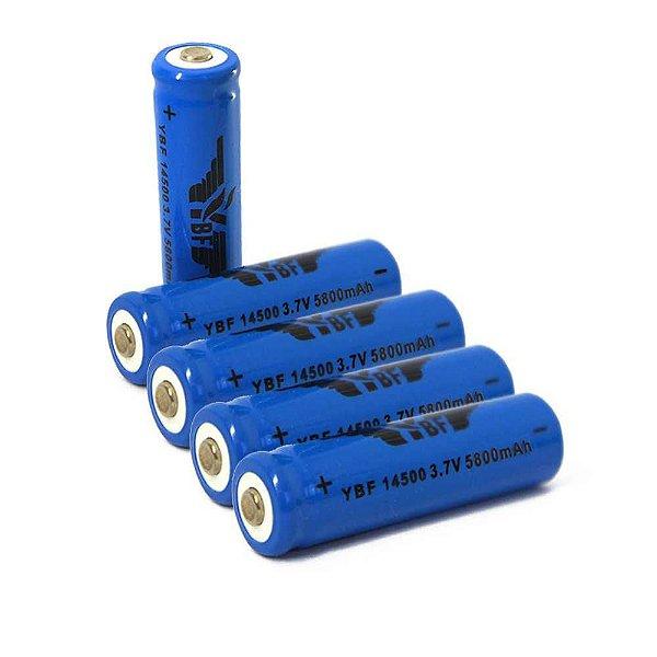 4 Bateria Recarregável Li-ion 14500 5800mah 3,7v - Unidade