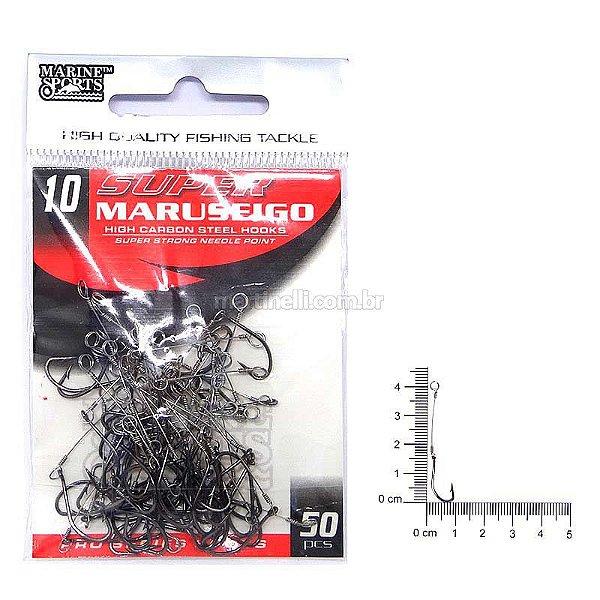 Anzol encastoado Super Maruseigo black 10 com 50 un.