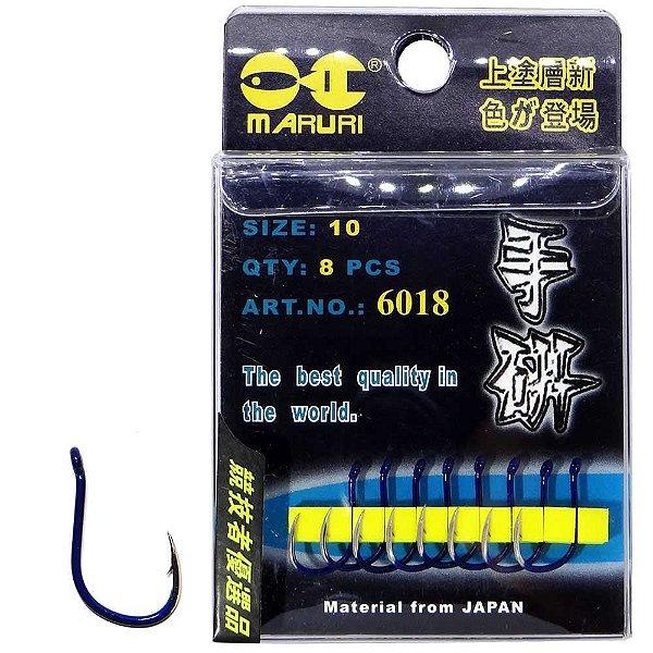 Anzol Maruri 6018 10 c/ 8 un Super Resistente e Afiados