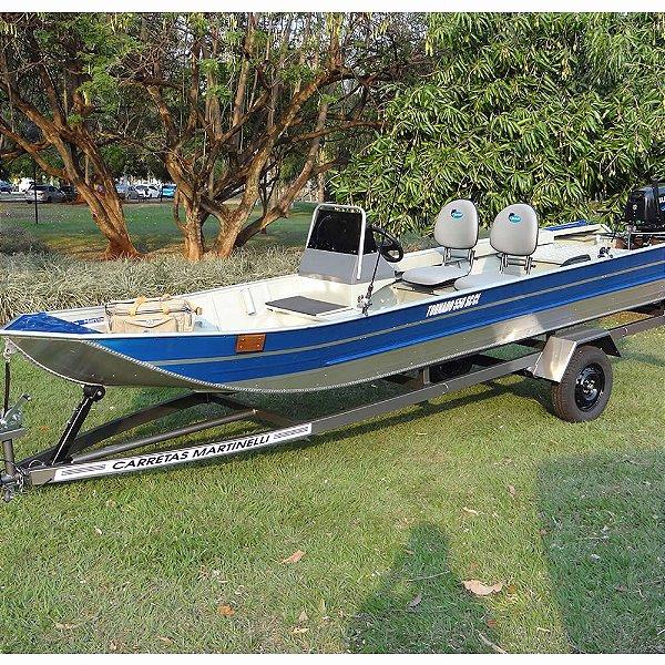 Barco de alumínio Martinelli Tornado 550 SC CL c/ acessórios para instalação de 15 ou 25 HP - a partir de R$ 10.244,00