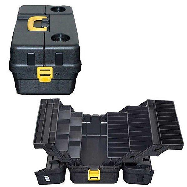 Caixa HI 6 bandejas grande preto cx-6bjg-p