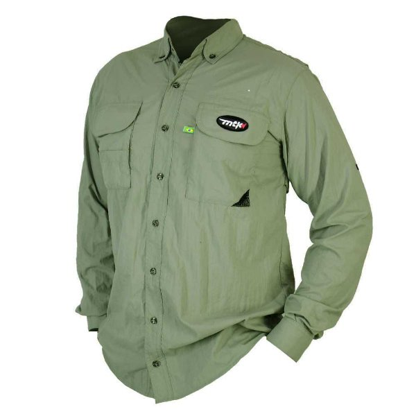 Camisa MTK Sky manga longa UVA e UVB Tam: GG Cor: verde