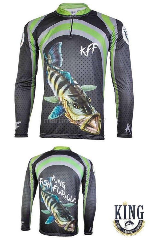 Camiseta de Pesca King 10 - Tucunaré - Tam: 03 - G