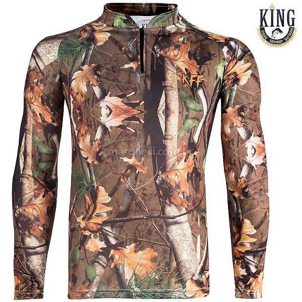 Camiseta de Pesca King 69 - Camuflada - Tam: 04 - GG