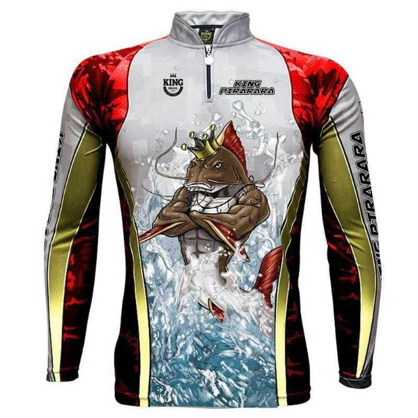 Camiseta de Pesca King Sublimada Furious 179 Pirarara - Tam. M