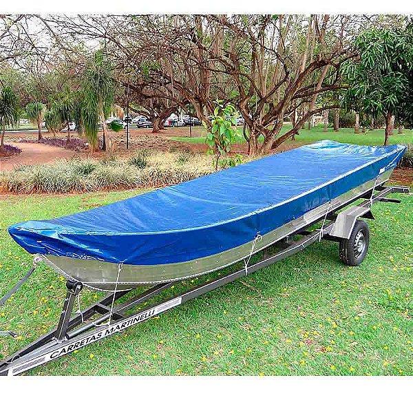 Capa de proteção para barcos de 4 a 6 metros sem volante, sem capuz do motor (Lona Night and Day) NBF - Fabricamos para todas as marcas e modelos.