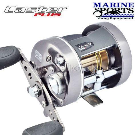Carretilha Marine Sports Caster Plus 400 - 6 Rolamentos, cap. 190m de linha 0,40mm - Direita - Perfil Alto