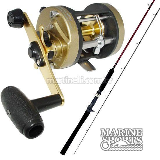 Carretilha Marine Sports Magna 5000 - Perfil Alto + Vara MS Sensor 602H 40 lb