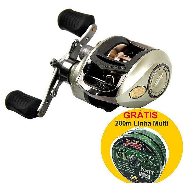Carretilha Marine Sports Ventura VT 10HI Dir Grátis 200m multi