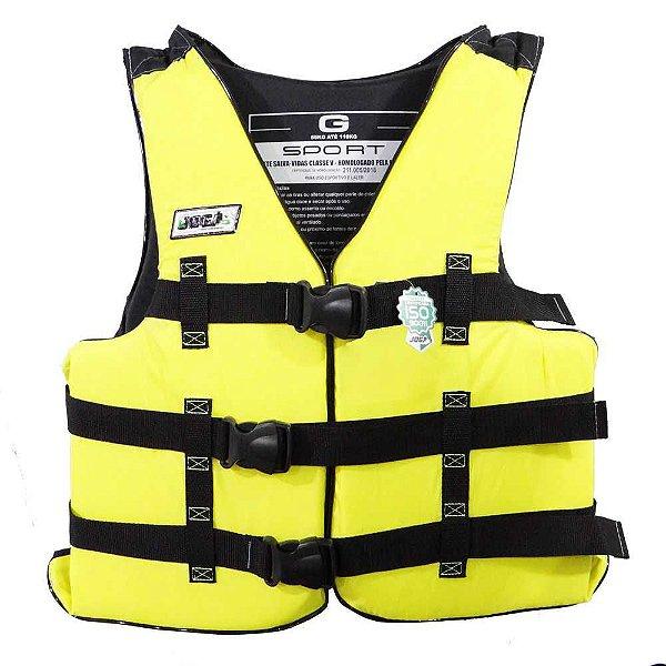 Colete Salva-vidas Jogá G acima de 110Kg Homologado Amarelo